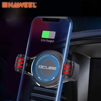 HAWEEL QC2.0 / QC3.0 Wireless Charger Car Air Outlet Holder Charger,Support 4 inch to 6.5 inch Phones For iPhone and Smartphone