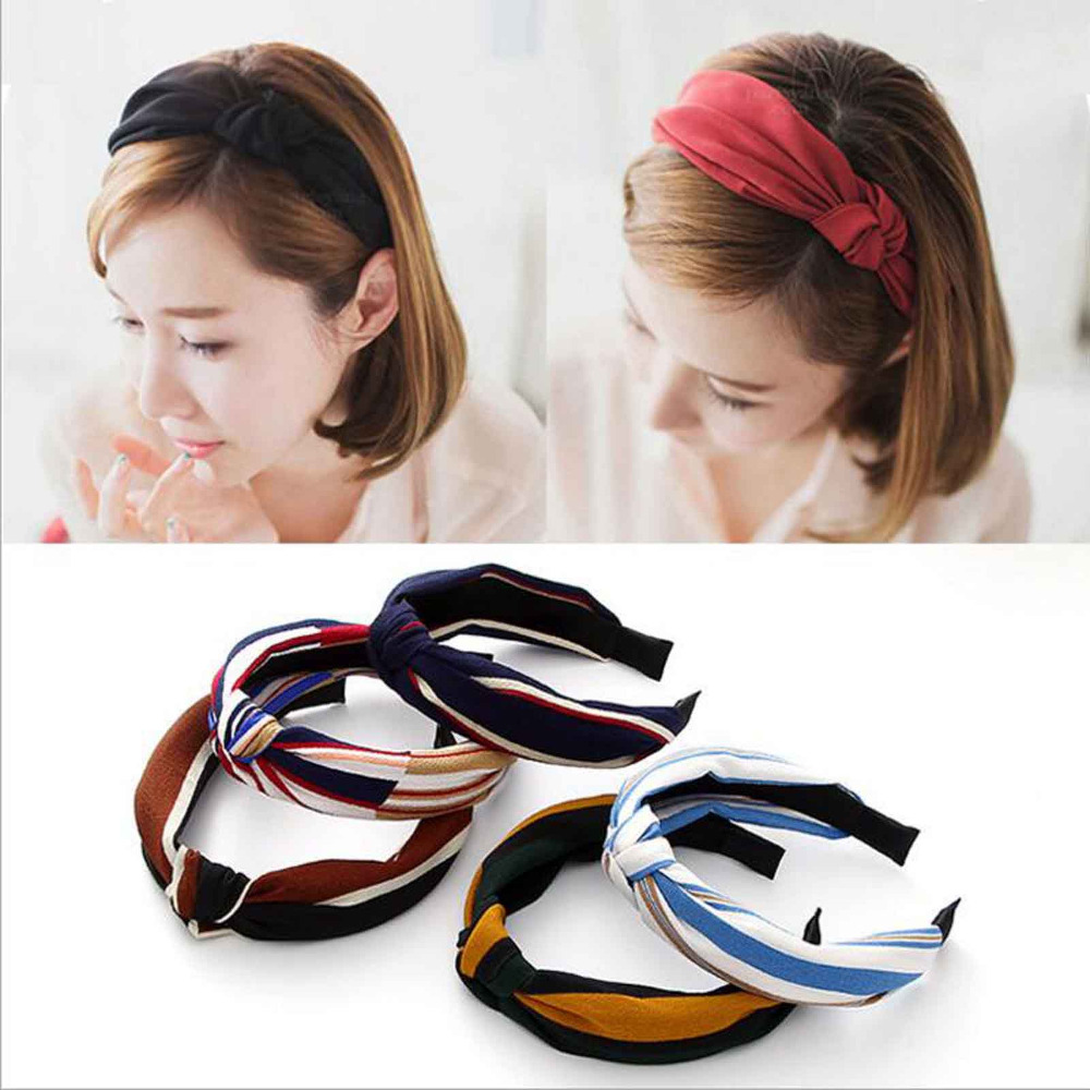 TWDVS Girls Elastic Hair Bands Top Knot Turban Flower Headbands for Women accessories Bow Head Hoop Hair Accessories for Women