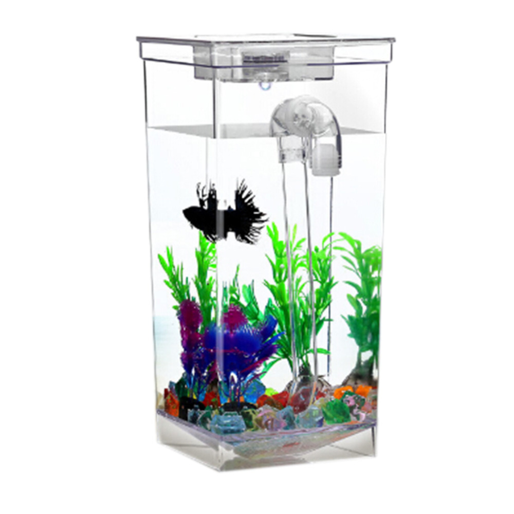 Aquarium fish tank price - Square Shape Acrylic Mini Fish Tank For Small Fishes Change The Water Easily Fish Tank For