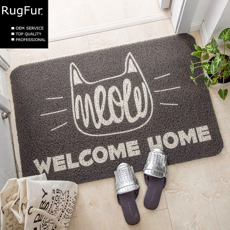 Creative cartoon home entrance mats home foyer carpet bedroom mattresses 45x75cm non-slip bath mat rub mats