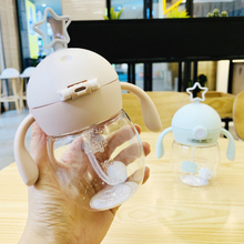 280ml Lovely Creative Baby Feeding Water Drink Leak Proof Bottle With Straw Baby Learning Drinking Tritan Portable Sippy Cup