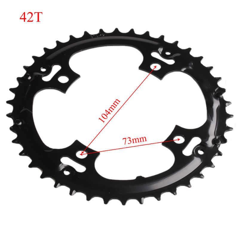 22 t/32 t/42 t/44 t 합금 mtb 자전거 자전거 좁은 와이드 체인 링 타원형 라운드 체인 휠 사이클 크랭크 셋