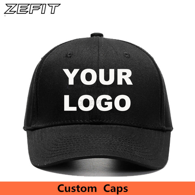 Zefit Personal Embroidery Logo Baseball Snapback Caps 100 Cotton