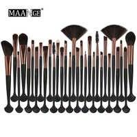 MAANGE 30Pcs Makeup Brushes Set Power Eye Shadow Brow Lip Concealer Fan Beauty Cosmetic Eyes Face Shell Make Up Brush Tool Kit