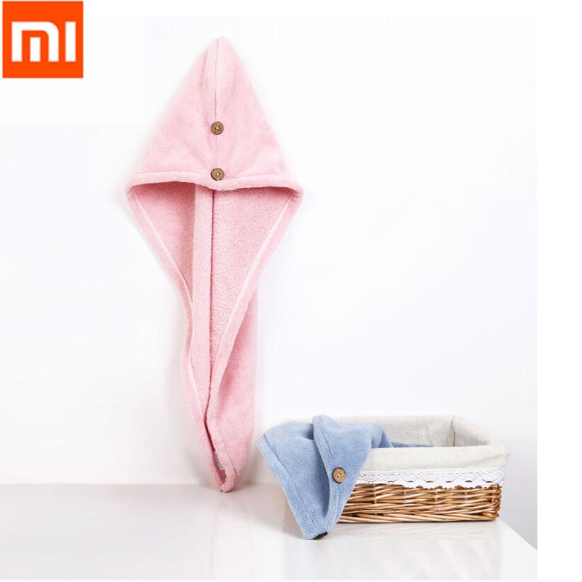Xiaomi Mijia Women Bathroom Super Absorbent Quick-drying Polyester with Cotton Bath Towel Hair Dry Cap Salon Towel 24x64cmXiaomi Mijia Women Bathroom Super Absorbent Quick-drying Polyester with Cotton Bath Towel Hair Dry Cap Salon Towel 24x64cm