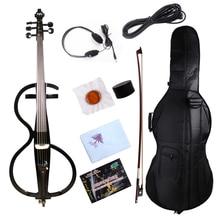 5 струн 4/4 электрическая Виолончель черный Виолончель мощный звук виолончель лук сумка#1446