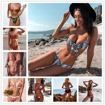 46c6c8d70072 XREOUGA Solid Bikini Set traje de baño de terciopelo dorado para mujer 2019  nueva ropa de playa de ...