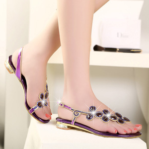 Image 5 - Cuculus 2020 New Bohemian Women Sandals Crystal Sandalias Rhinestone Chain Women Shoes Thong Flip Flops Zapatos Mujer PD21