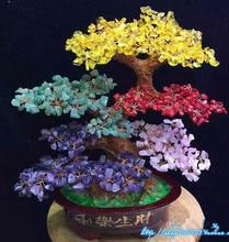Extra large NATURAL color quartz gemstone TREE REIKI Healing