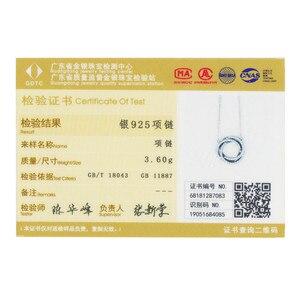 Image 5 - BAMOER colliers minimalistes en argent Sterling 925 pour femmes, ronds et élégants, pendentifs en CZ, SCN259