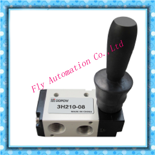 Pneumatic Manual Hand Lever Control Air Valve Toggle Style 3-position
