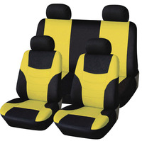 Car Seat Full Cover Universal Accessories Styling red blue yellow orange green rosy red For VW POLO golf Peugeot 206 lada