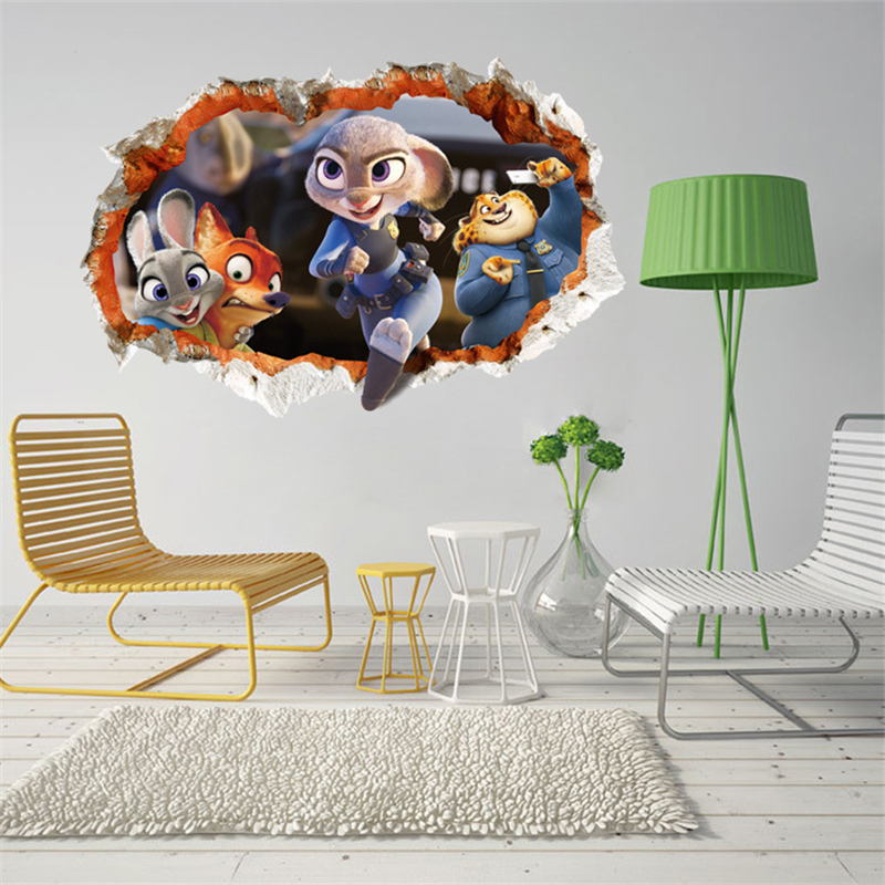 3d Wallpaper Zootopia Luxury Creative Kids Child Bedroom