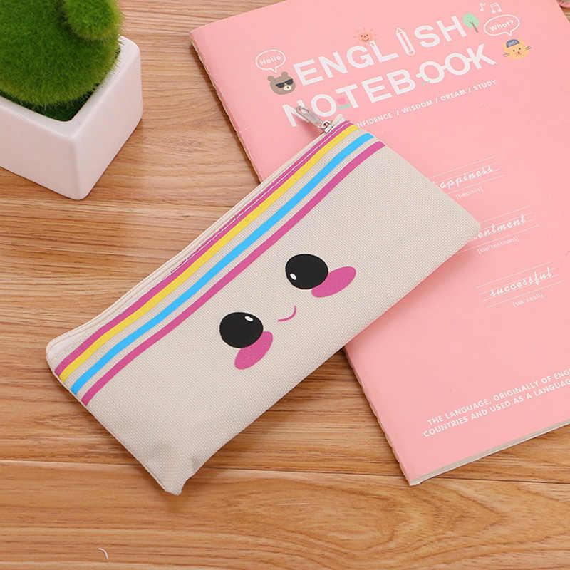 Kawaii Totoro аниме пеналы Милая лошадь пенал кошка Сумочка для ручек и карандашей коробка для девочек Bts канцелярские принадлежности для офиса школьные принадлежности