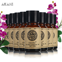 AKARZ Famous brand value meals Hazelnut Hemp seed Clary Sage Myrrh Patchouli Eucalyptus lemon grass Basil essential oil 10ml*8
