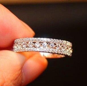 Bagues pour femmes argent 925 Fine femmes bague de mariage ensembles anneaux classiques avec Zircon bijoux pour femmes argent bijoux Vintage