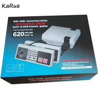 KaRue 10 Pcs Two Button Mini TV Handheld Games Console Video For Nes Games Built In
