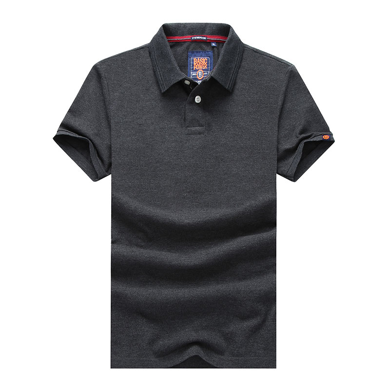 XXXL Summer Men's Solid Color Cotton Polo Shirts Brand Fitness Tops Tees Short Sleeve Shirts Casual Wine Red Men Polo Shirts (35)