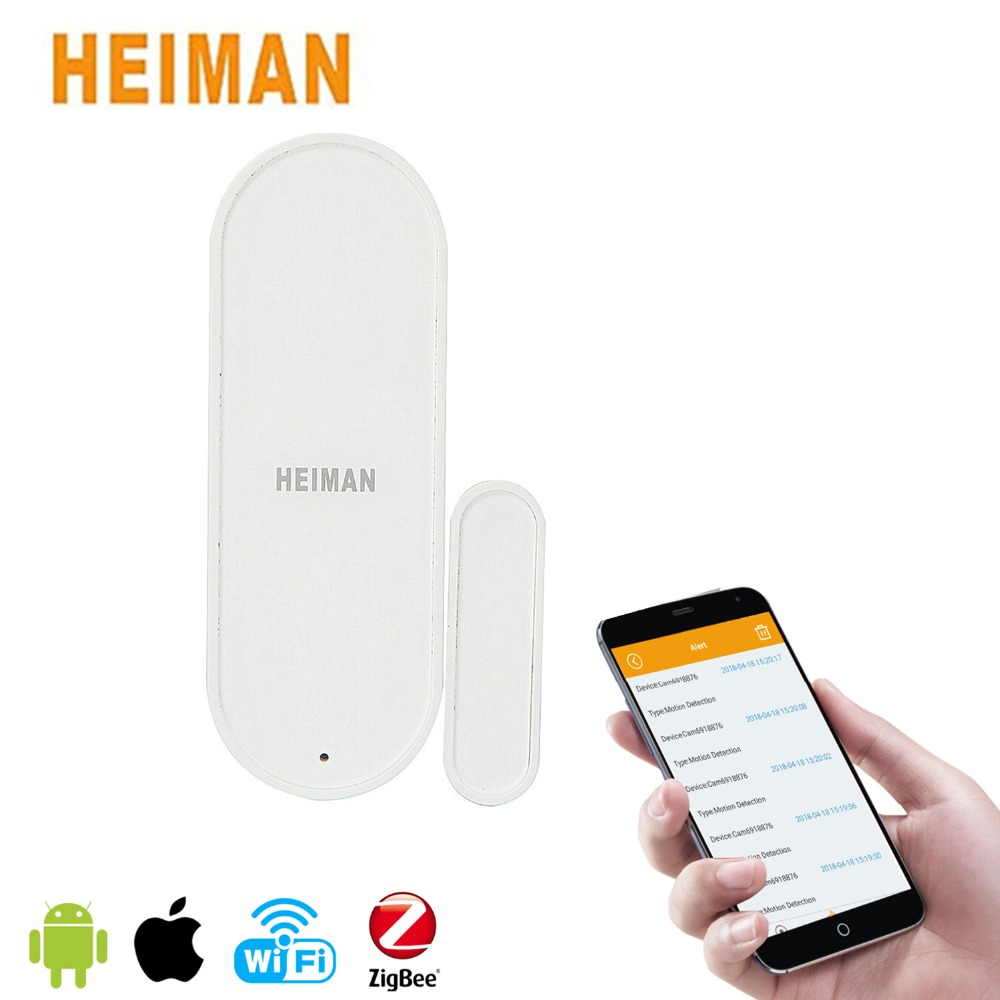 HEIMAN ZigBee Smart Door Window Sensor Intelligent Home Security Equipment Wireless Connection with Battery HS3DS автомобильное зарядное устройство lab c labc 591 gr с кабелем lightning серый
