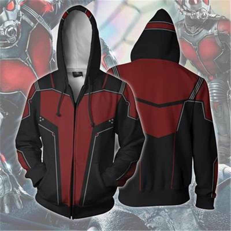 Avengers 3 Infinity War Antman men 3d print Hoodies Streetwear Casual Cospaly  jacket Sweatshirt Coat