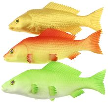 Gresorth 3 Pack Artificial Red Green Gold Carp Collection Fake Fish Home Party Decoration - 9 inch