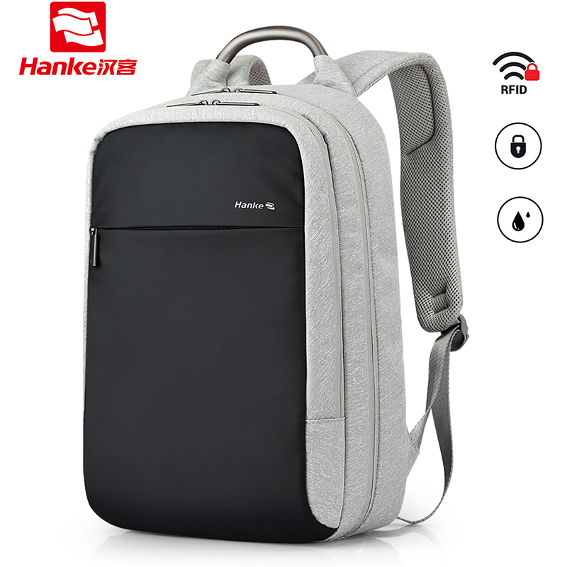 Hanke Anti theft Expandable Laptop Backpack Male Female Men Women Travel Business Backpacks RFID Blocking College Schoolbag
