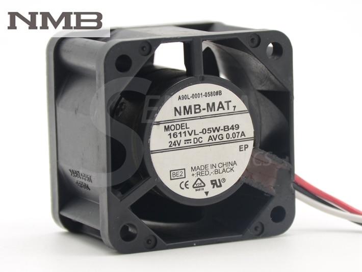 NMB 1611VL-05W-B49 A90L-0001-0580#8 cooling fan 40*40*28mm DC 24V AVG 0.07A цена 2017