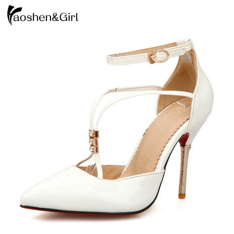 ... Shoes. US  29.88. Haoshen Girl Women High Heel Sandals Summer Heels  Flock Ankle Strap Sandals Narrow Band Concise Elegant White f0a57804477f