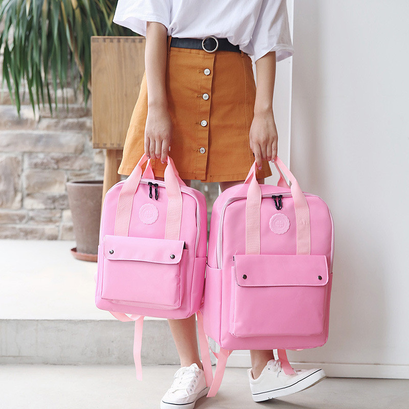 High Quality Fashion Waterproof Women Backpack For School Teenagers Girls Stylish School Bag Ladies Canvas Backpack Female #6