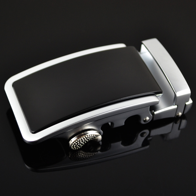 Guan Pin Genuine Men's Belt Head, Belt Buckle, Leisure Belt Head Business Accessories Automatic Buckle Width 3.5CM LY125-0170