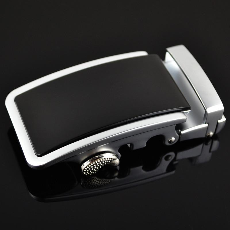 Guan Pin Genuine Men's Belt Head, Belt Buckle, Leisure Belt Head Business Accessories Automatic Buckle Width 3.5CM LY125-0170