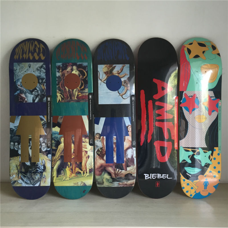 QUALITY GIRL pro Skateboarding Decks made byCanadian Maple Wood Shape Skateboard Green Girl Pattern Skate Board 8Types Available neolux bs 06 пылесборник из пятислойного микроволокна 4 шт микрофильтр