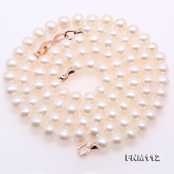 Handmade Real Pearl Jewellery,Charming Top Quality 8.5-10mm White Color Round Freshwater Pearl Necklace Long 38inchesHandmade Real Pearl Jewellery,Charming Top Quality 8.5-10mm White Color Round Freshwater Pearl Necklace Long 38inches