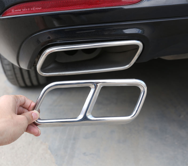 For Mercedes Benz S R Class W222 Coupe W251 10 17 GL Class X166 13 15 AMG Part 304 Steel Exhaust Cover Trim