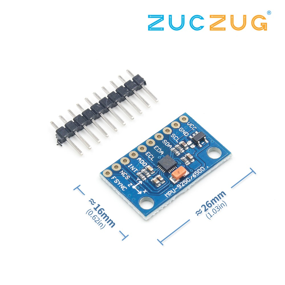 US $2 55 15% OFF|1Set SPI IIC/I2C GY 9250 MPU 9250 MPU 9250 9 Axis Attitude  +Gyro+Accelerator+Magnetometer Sensor Board Module MPU9250 3 5V-in