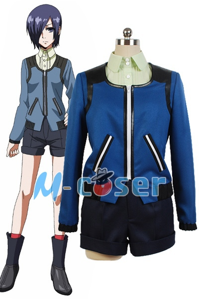 1Set/Lot Hot Anime Tokyo Ghoul Touka Kirishima Casual Shirt Coat Outfit Set Cosplay Costume
