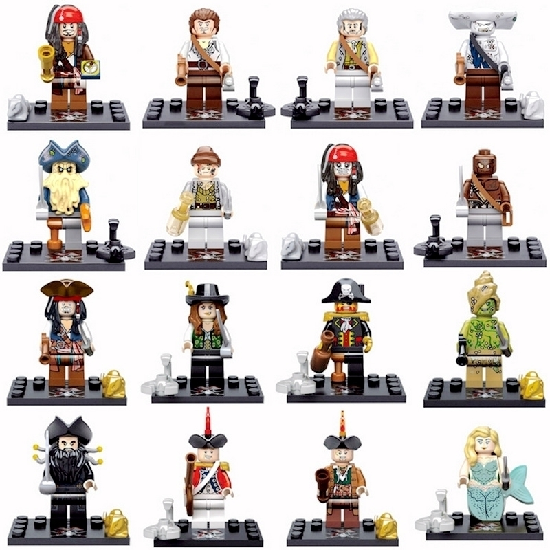 Pirates Of The Super Heroes Caribbean Batman Movie Sea Boat Trident Building Block Children Toys Compatiable with Pogo hot classic movie pirates of the caribbean imperial warships building block model mini army figures lepins bricks 10210 toys