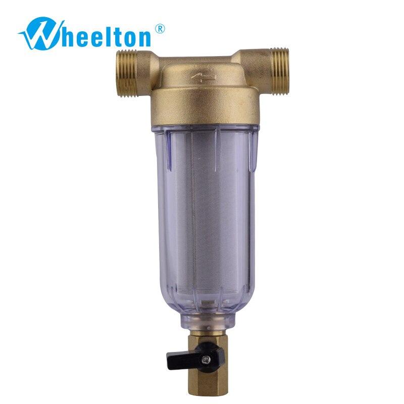 Wheelton фильтр для воды первый шаг воды прибор защитные системы латунь 40 микрон сетка из нержавеющей стали Префильтр Бесплатная доставка