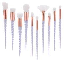 Unicorn Thread Makeup Brushes Professional Make Up Brushes Fiber Brush Set Makeup Tools Eyebrow Eyeliner Powder Brushes