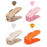 10pcs Set 7 Colors Fashion Double Shoe Racks Cleaning Storage Shoes Rack Convenient Shoebox Shoes Organizer