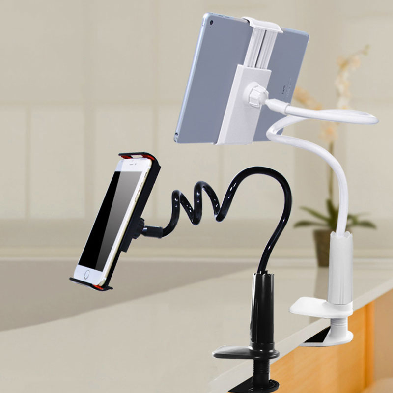 Cell Phone Clip Holder Phone Stand Long Arm Universal Desktop Mount Bed Lazy Bracket Multi Function Phone Holder