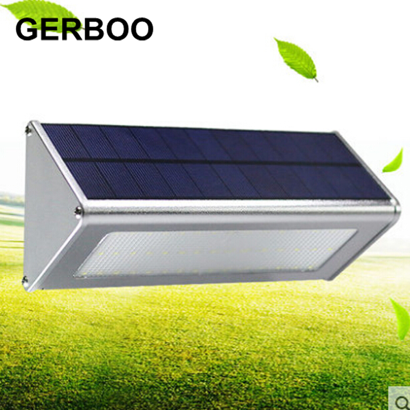 Upgraded Radar Motion Sensor 48LEDS 1000lm Aluminum Solar Lamp Garden Home  Outdoor Wall Light Waterproof Lighting Lights Lamps In Solar Lamps From  Lights ...
