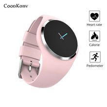 Coopkony Smart Wristband Watch Color Screen Blood Pressure Heart Rate Monitor Smart Band Fitness Tracker Smart Bracelet Ladies цена и фото