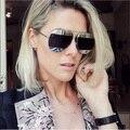 HBK Новейший Женщины Бренд Дизайнер UV400 Две Линзы Зеркальное Покрытие Мужчины Плоский Объектив солнечные Очки Высокого Качества