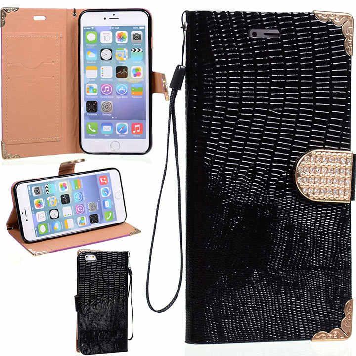 Специальный ящерицы кожи пояс футляр с подставкой и слотом для карт на магнитной застежке TPU + PU кожа чехол для iPhone 6 плюс 5,5 ''протектор задней крышки корпуса