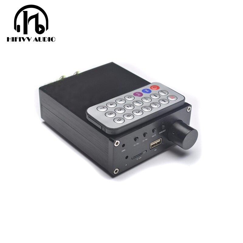 Hifivv amplificateur de puissance de voiture audio sans perte HD MP3 WAV lecteur TPA3116 amplificateur de puissance numérique amplificateur de voiture 50WX2