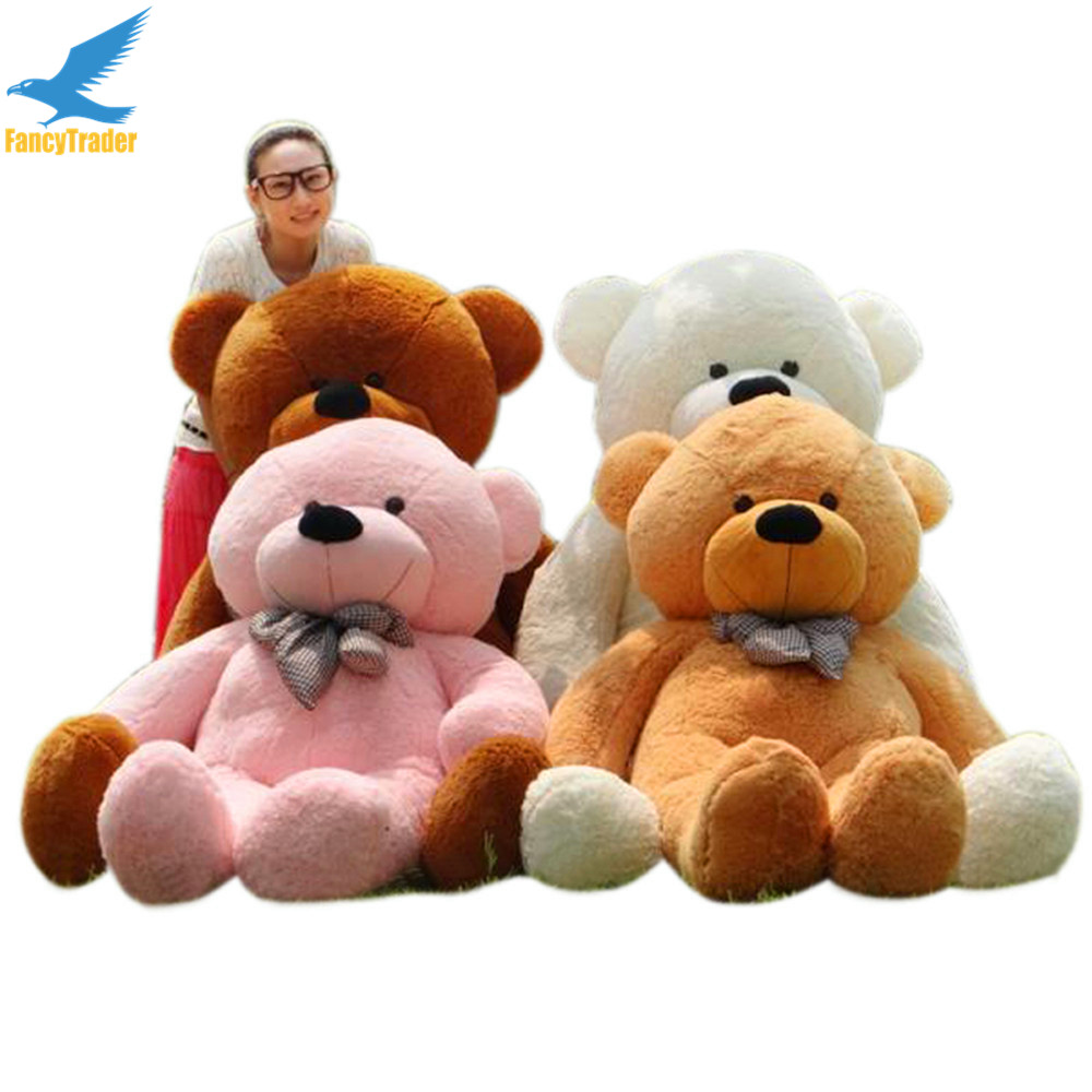 Fancytrader JUMBO 200CM Giant Stuffed Plush Bear Teddy Best Gift 4 Colors 79'' FT90056 fancytrader new style giant plush stuffed kids toys lovely rubber duck 39 100cm yellow rubber duck free shipping ft90122
