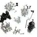 Parafusos carenagem completa Kits para Hond CBR 600 F4i CB250R CB1000R CB1100 prata