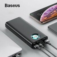Baseus 20000 mAh банк питания для iPhone samsung huawei type C PD Быстрая зарядка + быстрая зарядка 3,0 USB внешний аккумулятор