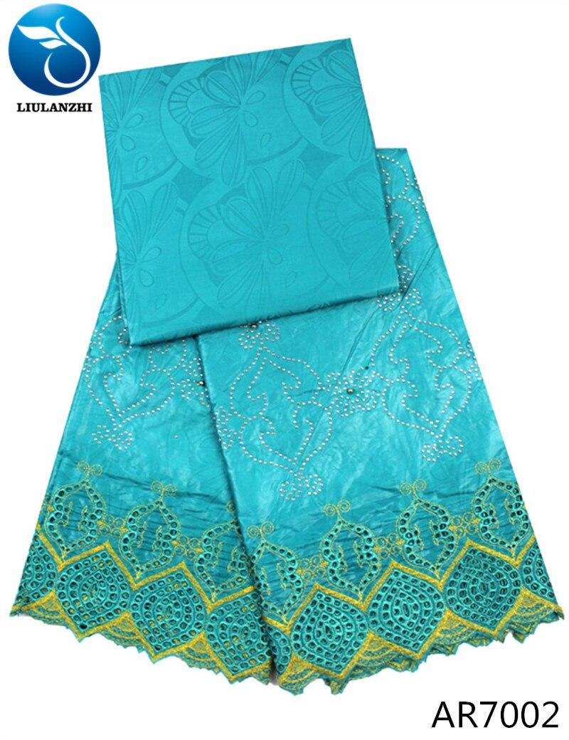 LIULANZHI bazin riche 2018 patchwork cotton fabric riche fabric jacquard brocade fabric with beads new 5yards